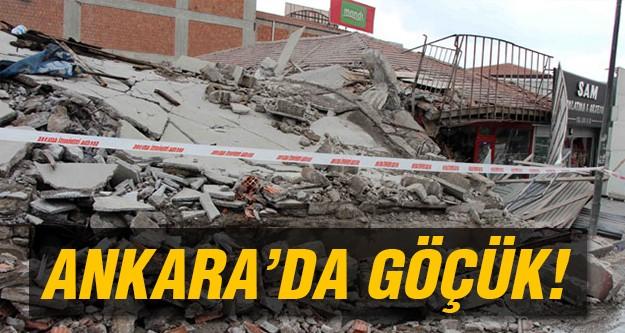 Ankara'da göçük meydana geldi!