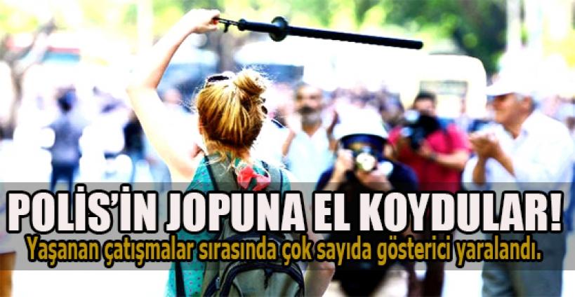 Ankara'da polisin copuna el koydular