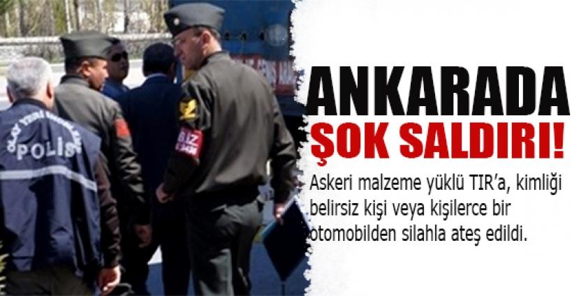 Ankara'da şok saldırı