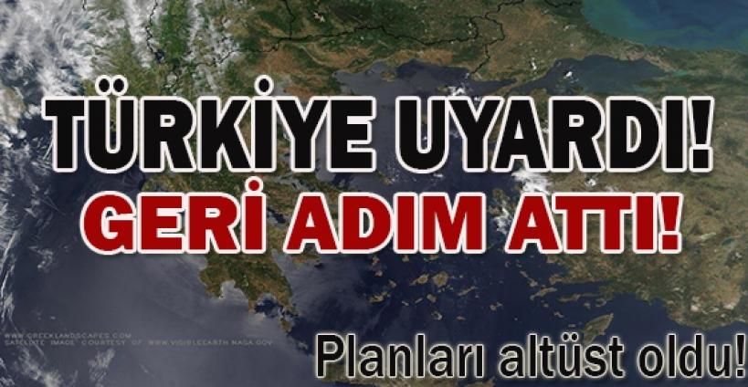 Ankara'nın uyarısı geri adım attırdı