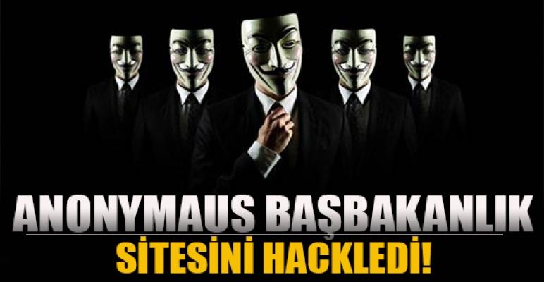 Anonymous'tan Başbakanlık'a saldırı