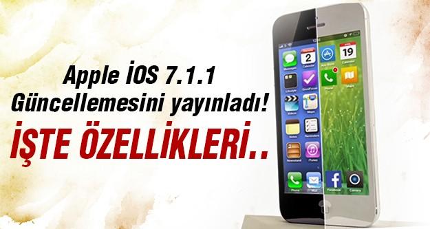 Apple'ın son güncellemesi yayınlandı!