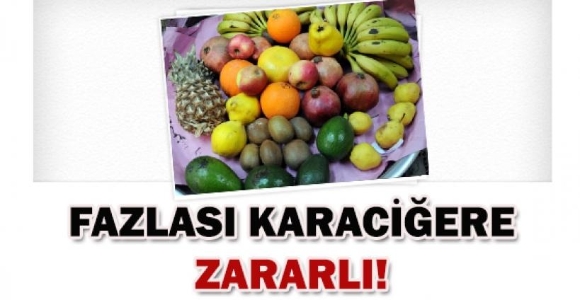Aşırı meyve yemek karaciğere zararlı