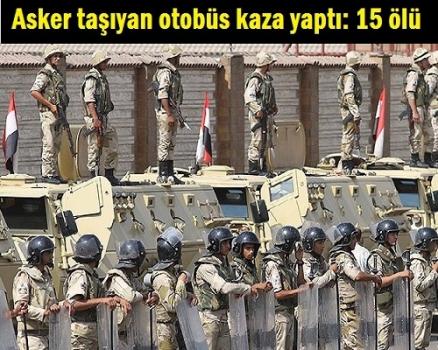Asker taşıyan otobüs kaza yaptı: 15 ölü