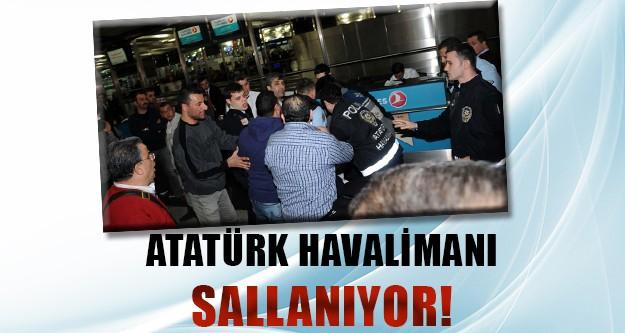 Atatürk Havalimanı'nda gergin anlar!