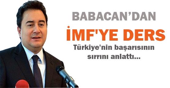 Babacan'dan IMF'ye ders