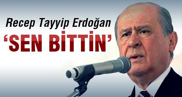 Bahçeli Başbakan'a:Senin siyasi ömrün tükendi!