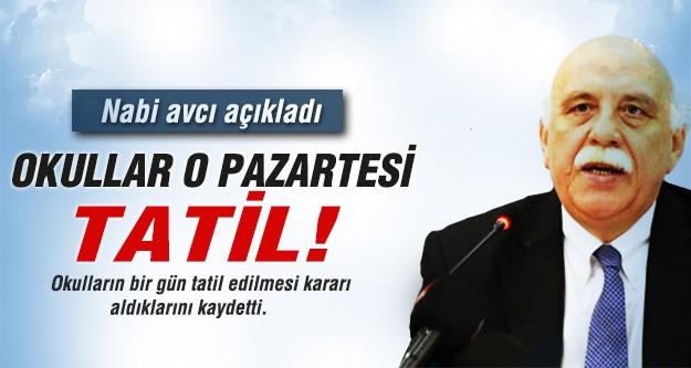 Bakan Avcı: '31 Mart'ta okullar tatil olacak'