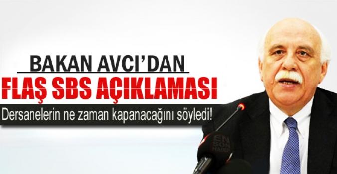 Bakan Nabi Avcı'dan flaş SBS açıklaması...