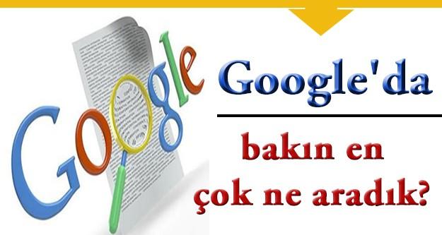Bakın google'da en çok hangi kelimeler aranıyor!