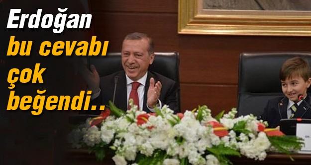 Başbakan bu cevabı alkışladı!