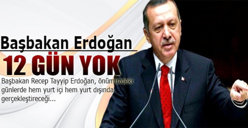 Başbakan Erdoğan 12 gün Ankara'da yok