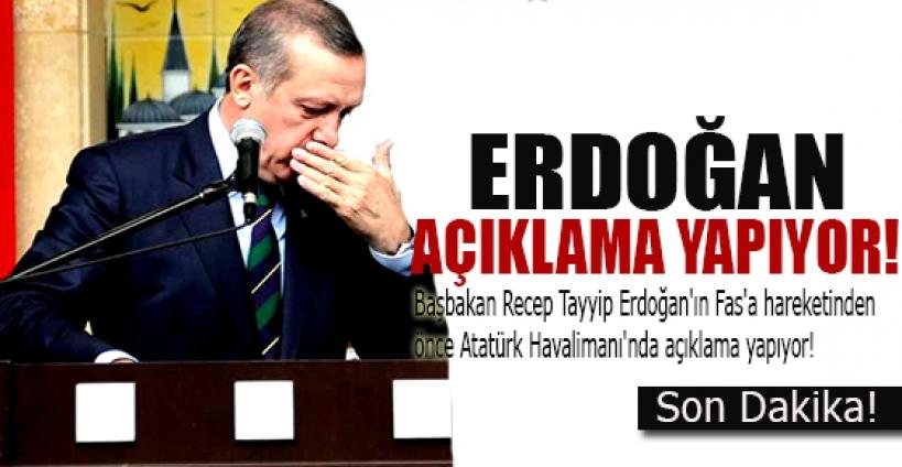 Başbakan Erdoğan açıklama yapıyor