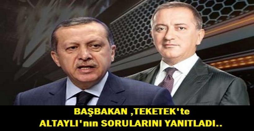 Başbakan Erdoğan, Fatih Altaylı'nın sorularını yanıtladı!