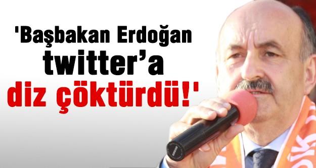 'Başbakan Erdoğan twitter'a diz çöktürdü! '