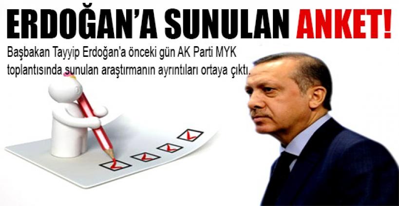 Başbakan Erdoğan'a sunulan anket sonucu