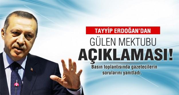 Başbakan Erdoğan'dan Fethullah Gülen mektubu açıklaması