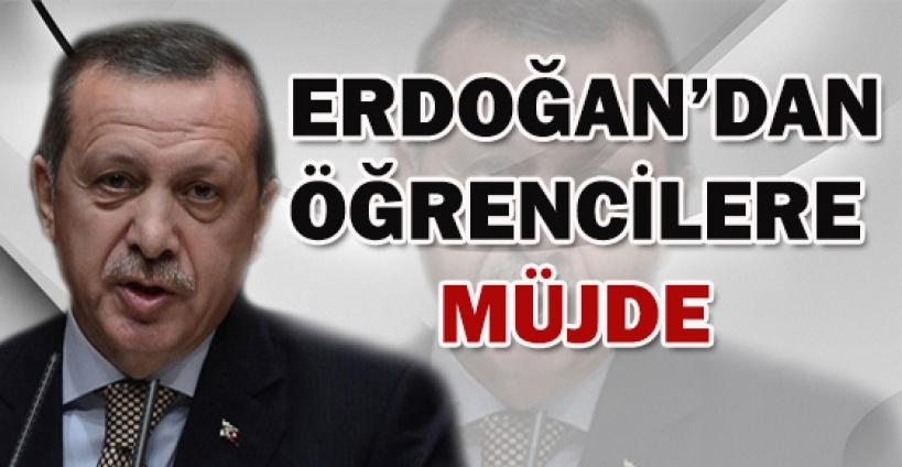 Başbakan Erdoğan'dan öğrencilere müjde
