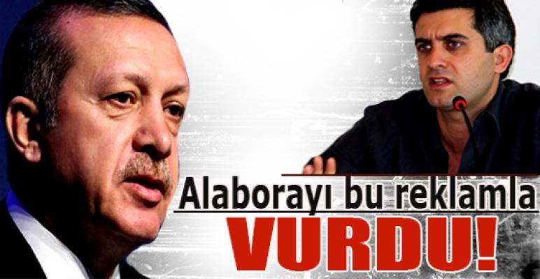 Başbakan, M. Ali Alabora'yı bu reklamla vurdu...