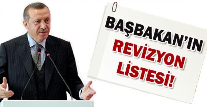 Başbakan'ın önündeki revizyon listesi