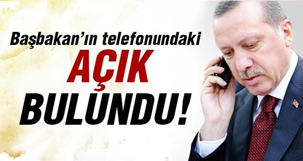 Başbakan'ın telefonundaki o açık ne?