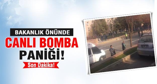 Başbakanlık önünde 'bombacı' paniği