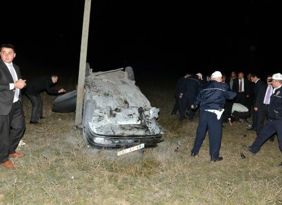 Bayraktar'ın konvoyunda trafik kazası