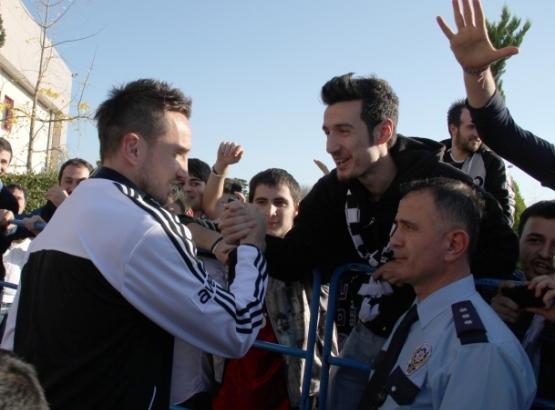 Beşiktaş kafilesi Samsun'da