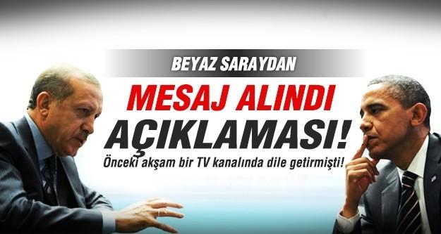 Beyaz Saray'dan Erdoğan'a 'Mesaj alındı' açıklaması