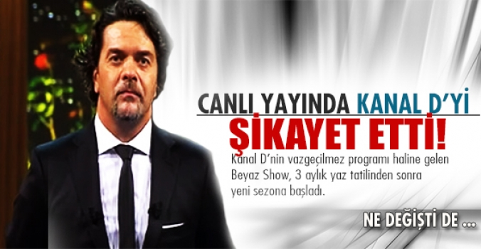 Beyazıt Öztürk Canlı yayında Kanal D'yi şikayet etti!