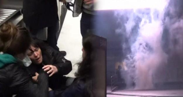 Biber gazı alışveriş merkezine girdi!