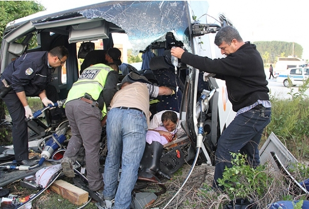 Bilecik'te trafik kazası: 33 yaralı