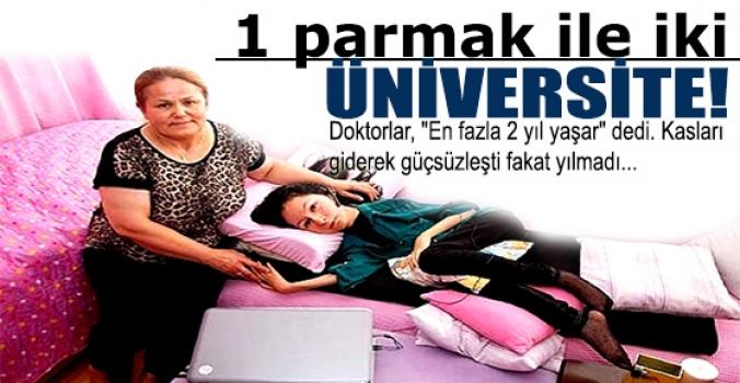 Bir parmak ile iki üniversite
