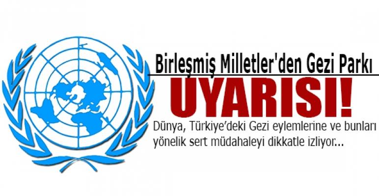 Birleşmiş Milletler'den Gezi Parkı uyarısı