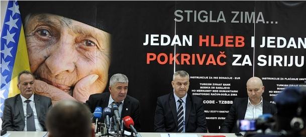 Bosna'da Suriye'ye yardım cuması