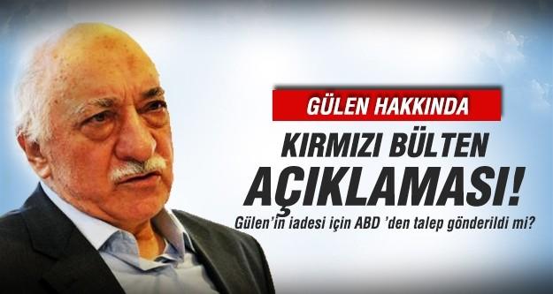 Bozdağ'dan Gülen hakkında kırmızı bülten açıklaması