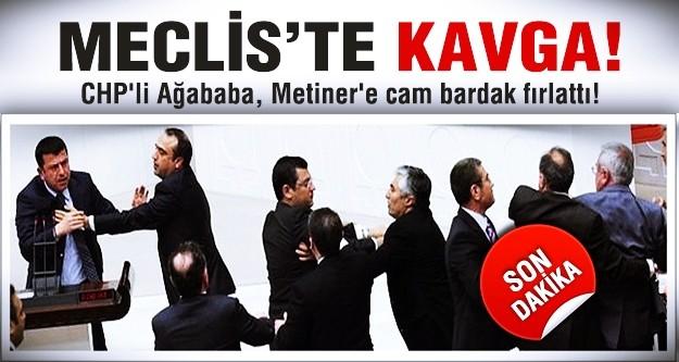 Cam bardağı AK Partili vekile fırlattı