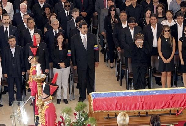 Chavez'in cenaze törenine dünya liderleri katıldı