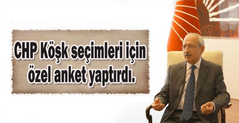 CHP Köşk seçimleri için özel anket yaptırdı.