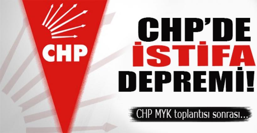 CHP MYK'da sürpriz istifa