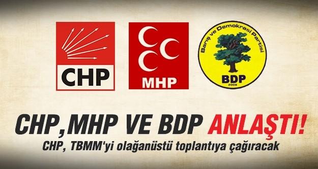 CHP, TBMM'yi olağanüstü toplantıya çağıracak