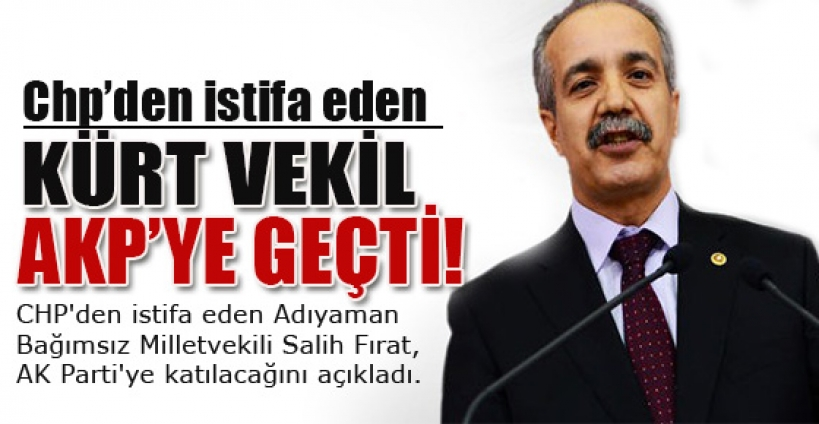 CHP'den istifa etti, AK Parti'ye katılıyor