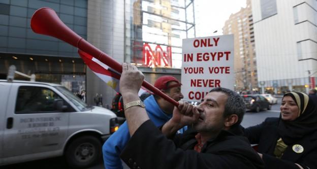 "CNN önünde ""darbe"" protestosu"