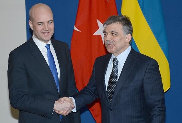 Cumhurbaşkanı Gül Reinfeldt ile görüştü