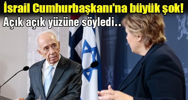 İsrail Cumhurbaşkanı'na büyük şok