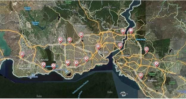 Dikkat! İstanbul'da en çok kazalar bu noktalarda oluyor..