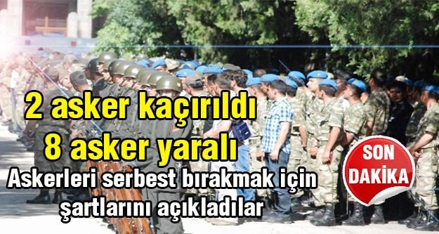 Diyarbakır'da 2 uzman çavuş kaçırıldı, 8 asker yaralı