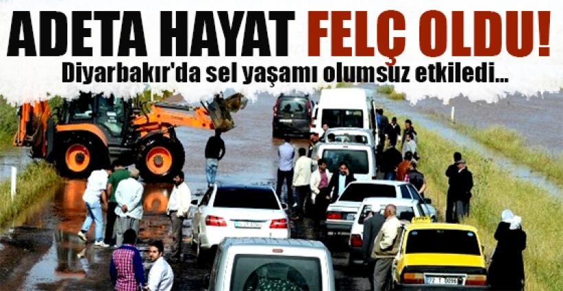Diyarbakır'da sel yaşamı felç etti...