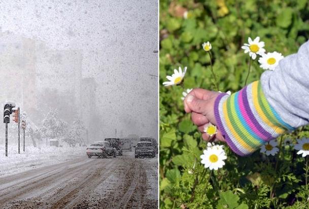 Doğu'da kar, Güney Ege'de bahar