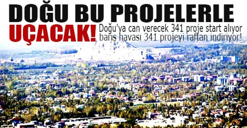 Doğu'ya can verecek 341 proje start alıyor